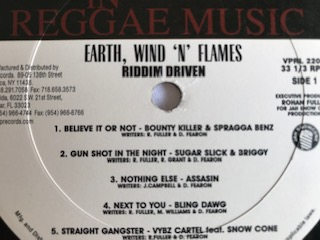 RIDDIM DRIVEN  FEATURING  EARTH, WIND'N' FLAMES