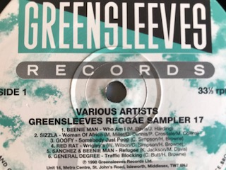 GREENSLEEVES REGGAE SAMPLER 17